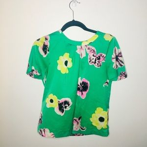 Lovely xs J. crew floral blouse